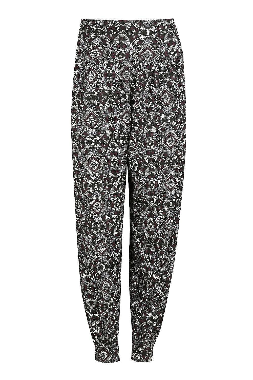 Oops Outlet Women's Printed Harem Trousers Ali Baba Long Pants Baggy Leggings