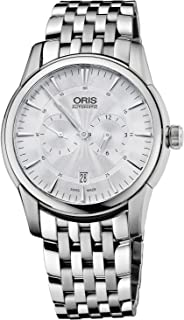 Oris Artelier Automatic Regulator Watch - Mens 40mm Analog Silver Face with Second Hand, Date