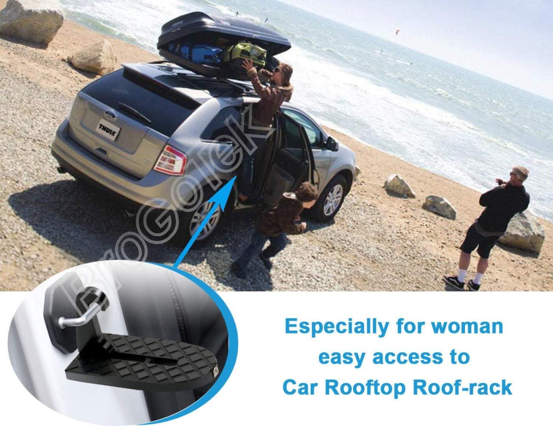 BroGoTek Universal Fahrzeug Klappleiter T/ürtritt mit Sicherheitshammer f/ür Jeep Ford GMC F150 BMW Audi Benz SUV Fahrzeuge Einfacher Zugang zum Auto Dachgep/äcktr/äger T/ür