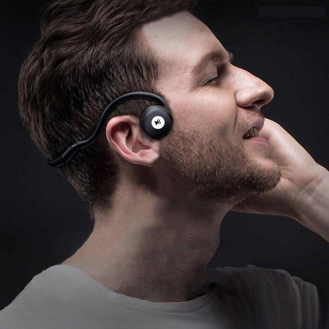 コノビヤ 骨伝導 ヘッドホン Bluetooth 高音質 スポーツ 防滴マイク付 ハンズフリー通話 日本語説明書