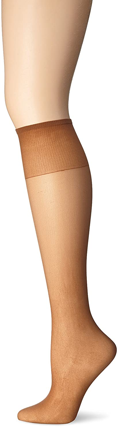 Just My Size Women's Knee High Panty Hose, Suntan, One Size at ...