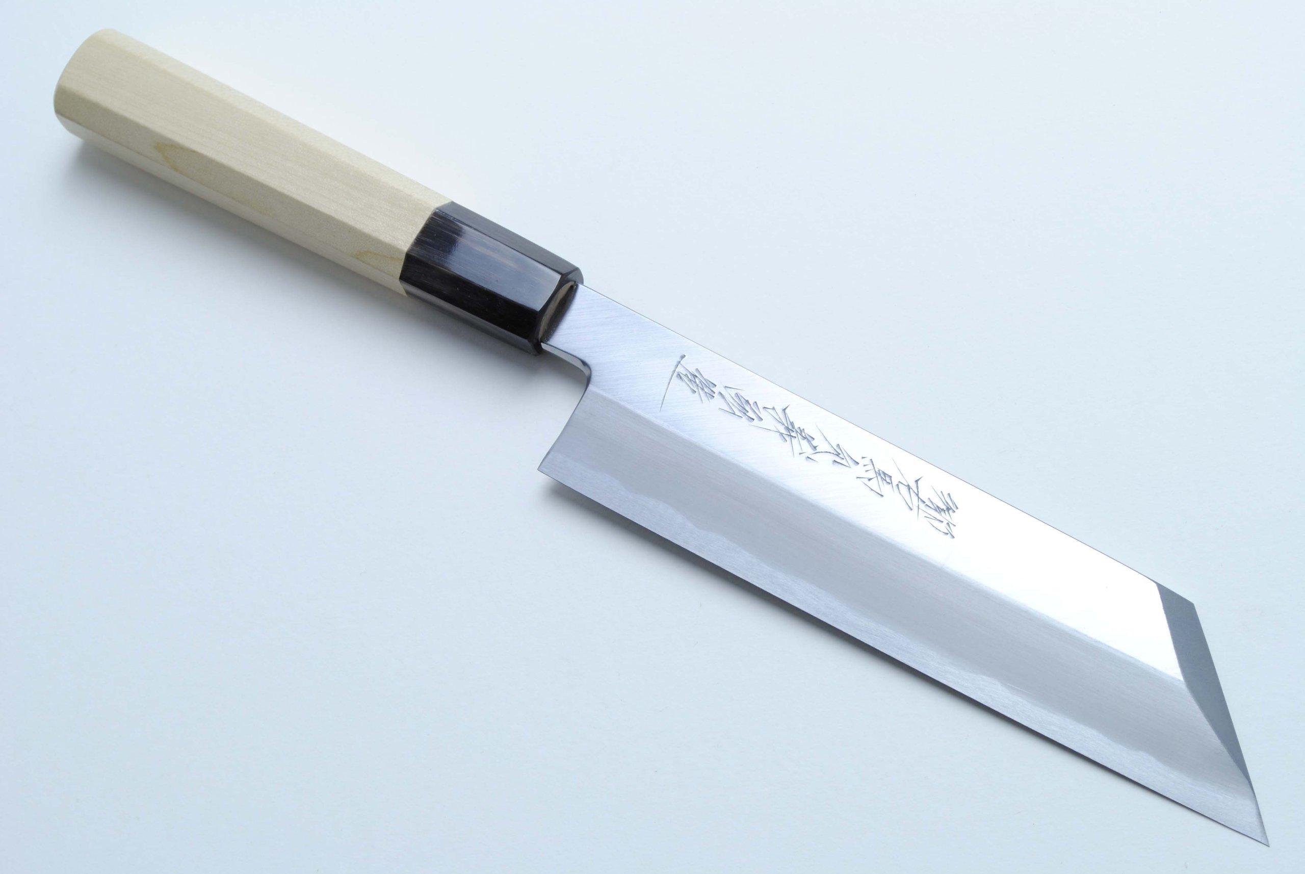 Yoshihiro Aoko Blue High Carbon Steel Hongasumi Kenmuki Japanese Vegetable Utility Chef Knife 7 Inch(180mm)