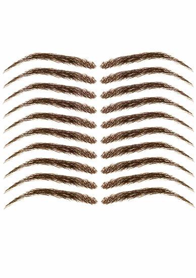 Cardani Eyebrow Tattoos #17 - Classic Shape Temporary Tattoo Eyebrows -  Dark Brown