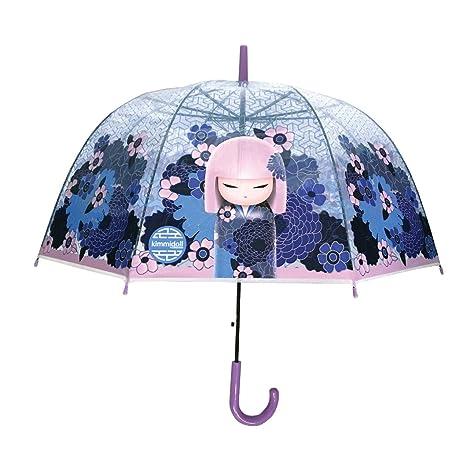 Paraguas transparente Kimmidoll Azul