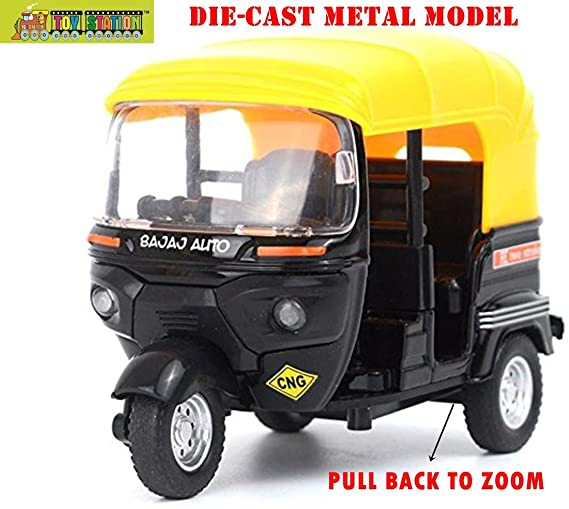 TOY-STATION 1:14 Scale Bajaj Auto Die-Cast Metal Model Toy for Kids (Multicolour) Cars & Trucks at amazon