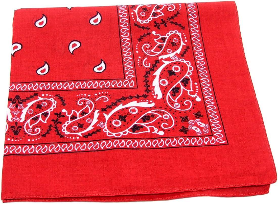 Handkerchief New Cotton Bandanna Paisley Headbands Neck Scarf Lovely Colors