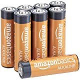 AmazonBasics 8-Count AA High-Performance Alkaline Batteries, 10-Year Shelf Life, Easy to Open Value Pack