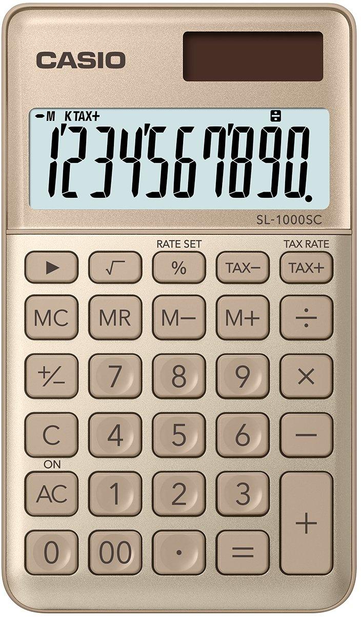 marineblau Casio SL-1000SC-NY stylischer Taschenrechner 10-stellig