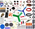 Kit4Curious Super Kit 100 items in a kit – Science & fun innovation Kit with instruction manual for 100 projects