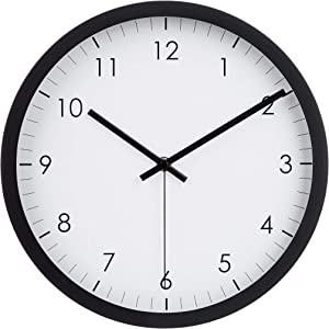 "AmazonBasics 12"" Traditional Wall Clock - Black"