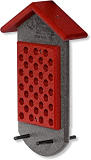 product image for Double Peanut Butter Hanging Poly Bird Feeder (Bright Red & Gray)