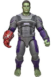 Bruce B. Endgame Team Suit Hulk Deluxe Figure Beat Up Card Marvel Avengers