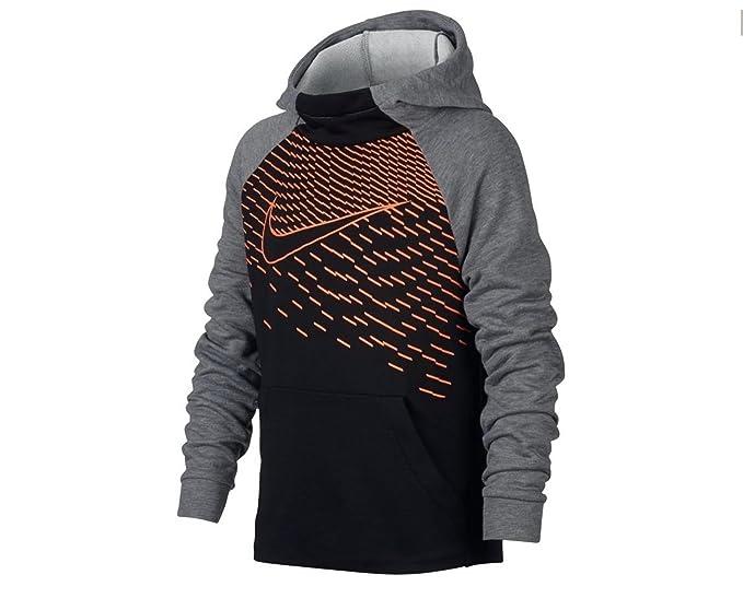 3cc02b7dd3 Amazon.com  Nike Boys Dri-FIT Logo-Print Training Fleece Hoodie