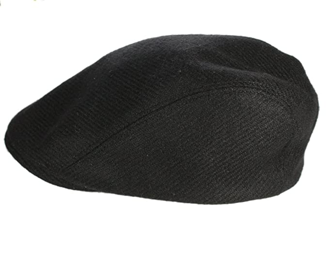 Irish Tweed Caps Extended Brim Black Made in Ireland John Hanly Small 1f53cba7d7c