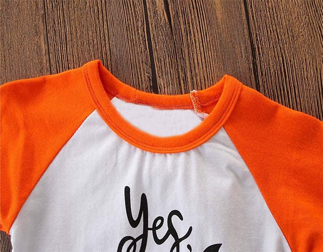 Halloween Baby Top Outfits,Fineser Toddler Kids Baby Girl Boy Long Sleeve Letter Print T Shirt Tops Halloween Clothes Outfit