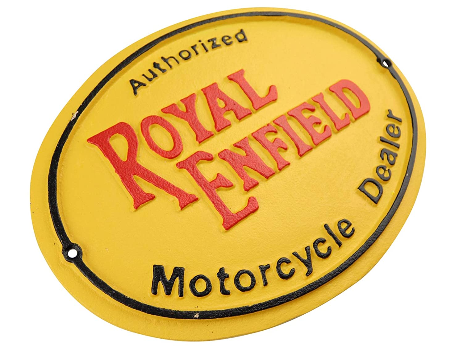 Authorized Royal Enfield Motorcycle Dealership Logo Cast Iron Sign Plaque