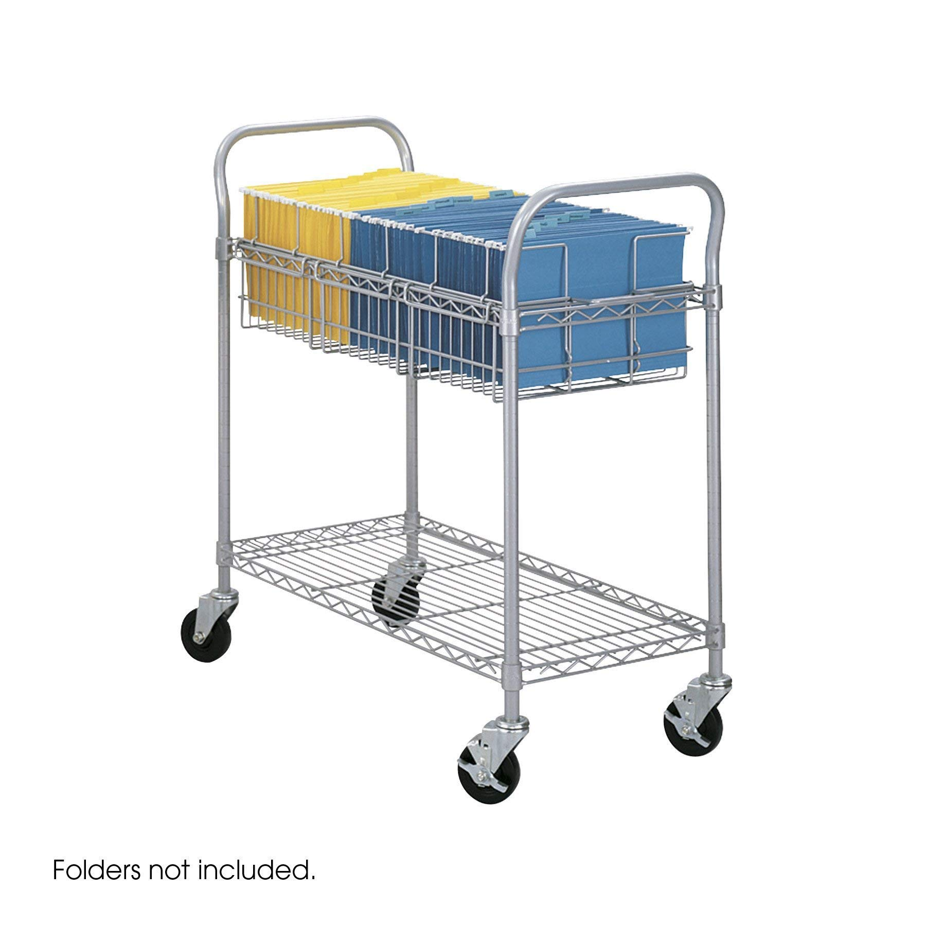 Safco Products 5236GR Wire Mail Cart, Legal Size, Gray by Safco Products (Image #1)