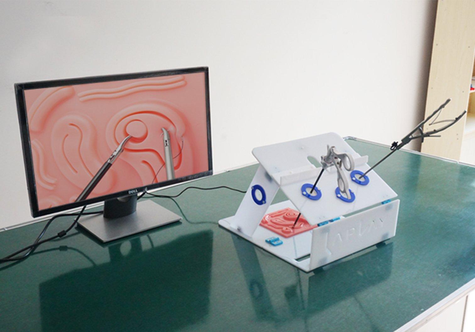 Laplay LaparoscopicTraining Box,Simulator Box,Laparoscopic Simulator with suture pad,and inset USB camera