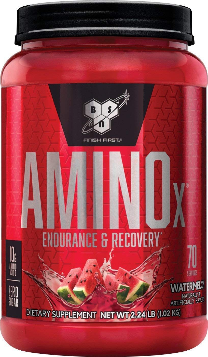 BSN Amino X Muscle Recovery & Endurance Powder with BCAAs, 10 Grams of Amino Acids, Keto Friendly, Caffeine Free, Flavor: Watermelon, 70 Servings (Packaging May Vary) by BSN