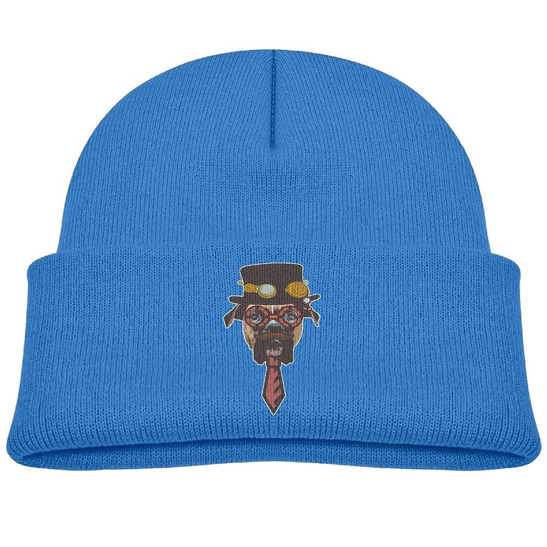 389b5af4e7c Raining Sunlight Kids Cool Steampunk Gentle Dog With Beard Casual Flexible  Winter Knit Hats Ski