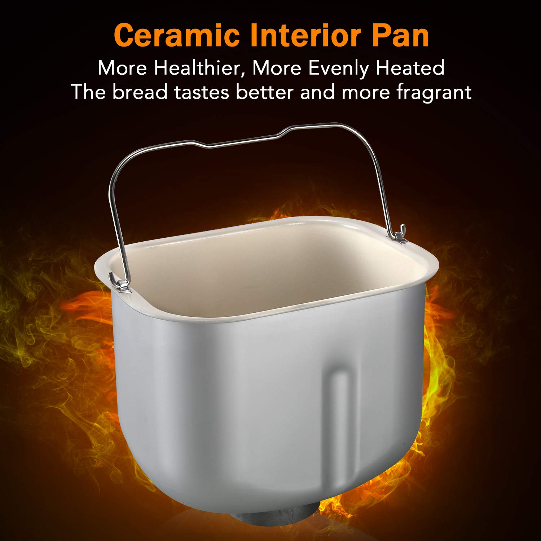 Amazon.com: KBS Máquina de pan de acero inoxidable, 1500W ...