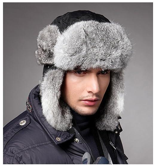 179e78e06b4 Ultra Warm Trapper Hats Mens Winter Snow Skiing Caps Hats Ear Flap Chin  Strap (M
