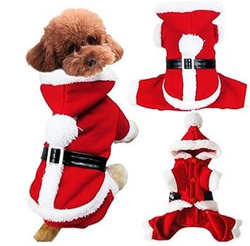SHUNLIU Ropa para Perros Disfraces de Navidad Perro Mascota con Gorro Papá Noel Navidad Mascota Traje de Navidad: Amazon.es: Productos para mascotas