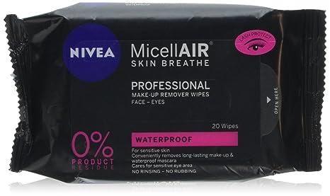 Nivea maquillaje Remover, micellair profesional toallitas limpiadoras, 20 toallitas