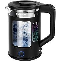 Waterkoker, 1,7 liter, 3000 watt, BPA-vrij, elektrische glazen waterkoker met ledverlichting, automatische uitschakeling…