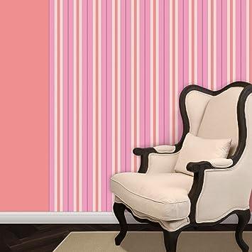 Feine Streifentapete Eleganz In Rosa Vlies Tapete Streifen