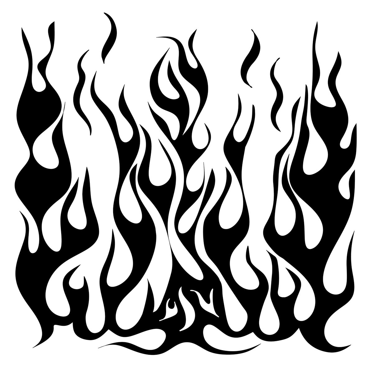 Crafters Workshop 6 x 6-inch Flames Template 211073