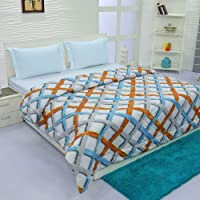 Aurome - Microfiber, Double Bed All Weather, A/C Comforter, (120 GSM) - Geometric Motif Print, Multicolor
