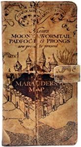 iphone 6 Case Hogwarts Marauder's Map Vintage Old Pattern Leather Wallet Card Flip Stand Case with Always Back Cover For IPHONE 6 6S