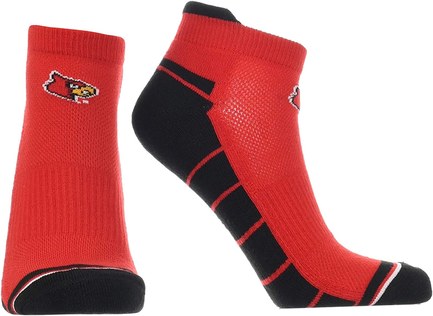 Louisville Cardinals Low Cut Ankle Socks with Tab