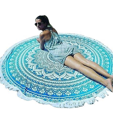 Surenow Manta Toalla de Playa Tapiz Mandala Mantel de Picnic Esterilla de Yoga Estilo Bohemio con