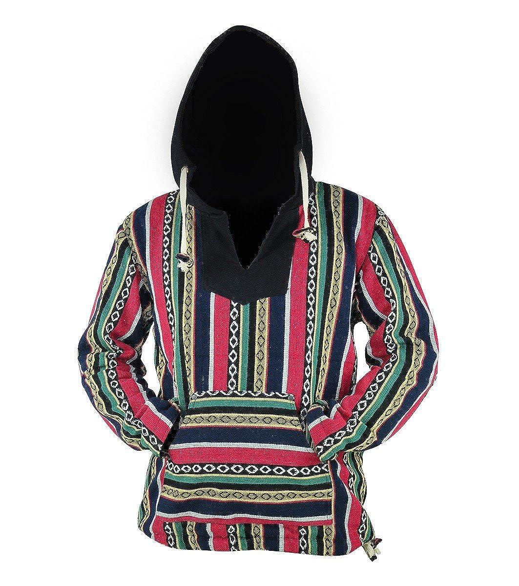 Virblatt - Baja Hoodie Herren und Hippie Hoodie Alternative Kleidung - Rotterdam
