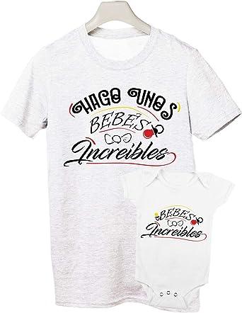 Camiseta y Body Bebé Manga Corta - Bebé increíble - Regalo para Padres y bebés: Amazon.es: Ropa y accesorios