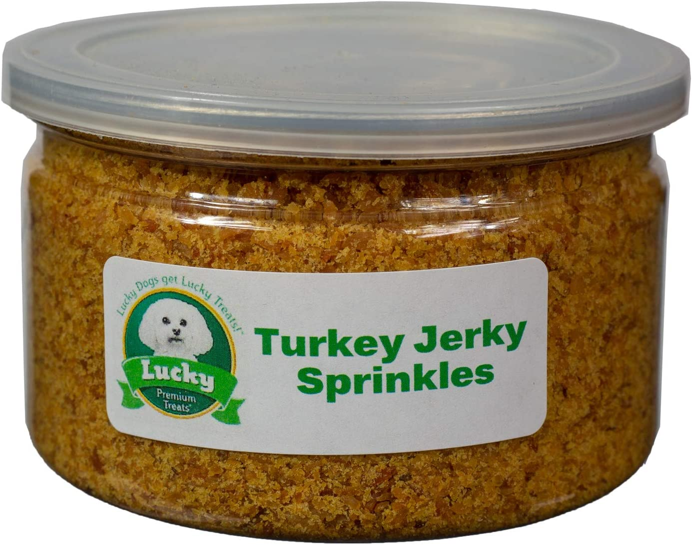 Lucky Premium Treats Jerky Sprinkles Dog Food Topper All-Natural Kibble Seasoning Adds Delicious Flavor to Your Dogs Food Made in The USA