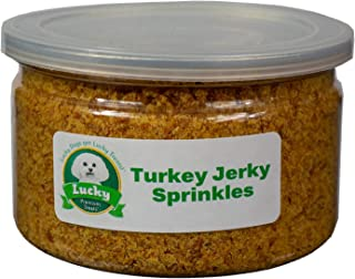 product image for Lucky Premium Treats Jerky Sprinkles Dog Food Topper All-Natural Kibble Seasoning Adds Delicious Flavor to Your Dogs Food Made in The USA