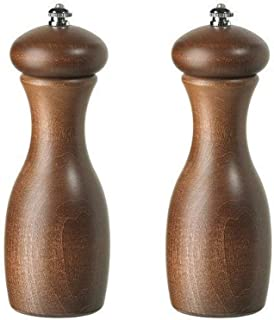 product image for Fletchers' Mill Marsala Collection Salt & Pepper Mill, Walnut Stain - 7 Inch, Adjustable Coarseness Fine to Coarse, MADE IN U.S.A.