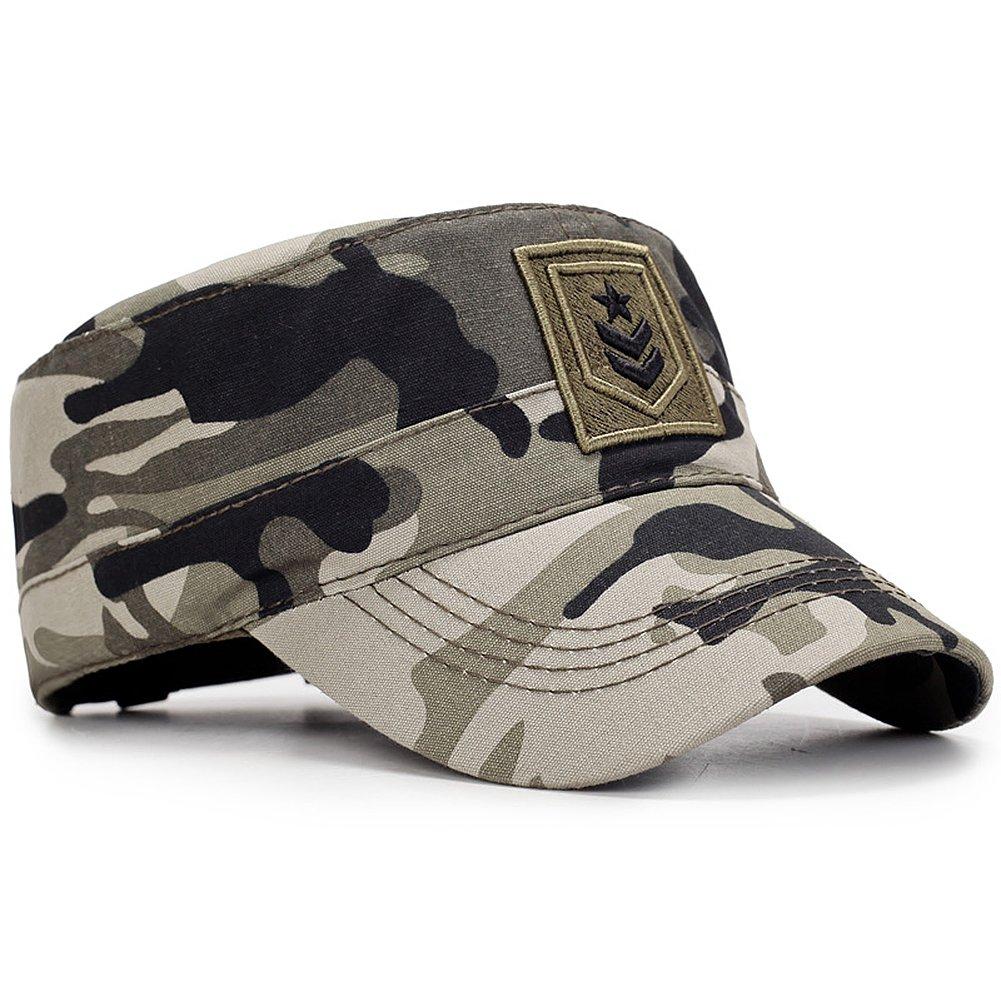 Yooeen Gorra Militar Algod/ón Gorra Plana Gorra de Campo Gorra de B/éisbol Hombres Mujeres Army Military Cap Gorra