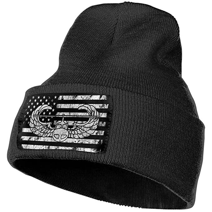 0154b3ac738 Air Assault Badge Vintage US Flag Black Unisex Mens Womens Skull Knit Hat  Cap Ski Snowboarding Beanie Hats at Amazon Men s Clothing store