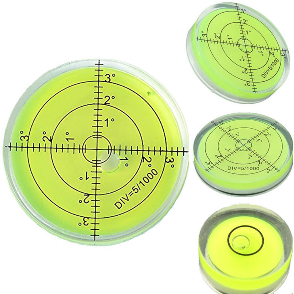 nivel de superficie verde medidor de medici/ón Kit con burbujas de grado de marca Acr/ílico nivel de burbujas en espiral redondo