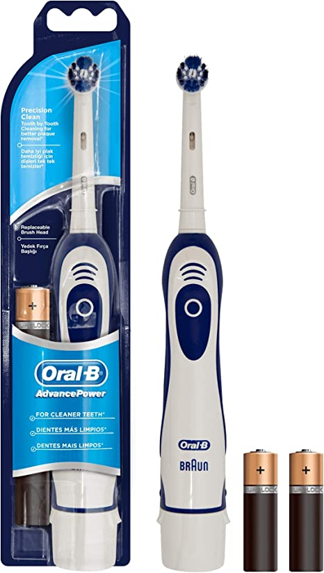 Oral B Advance Power Battery powered electric toothbrush, blue white