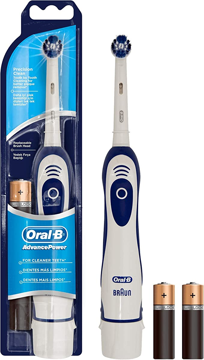 Oral-B Advance Power - Battery powered electric toothbrush, blue / white,Procter & Gamble,DB4010