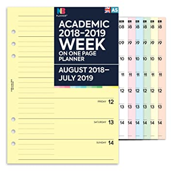 Agenda 2018-2019 de NBplanner®. Una semana por página ...