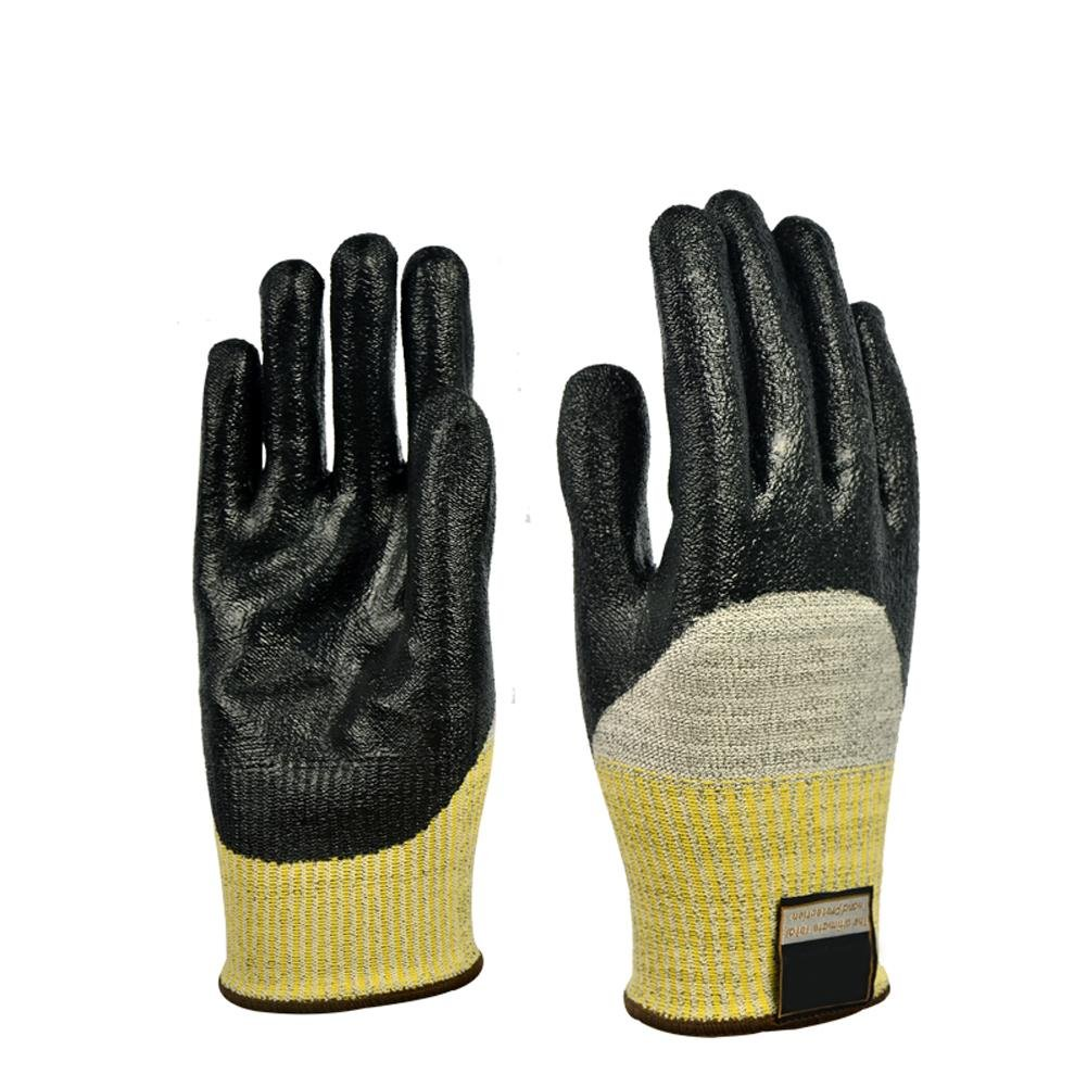 High temperature 100 degrees gloves nitrile coating labor insurance supplies smelting work anti - skid anti - cutting anti - cutting