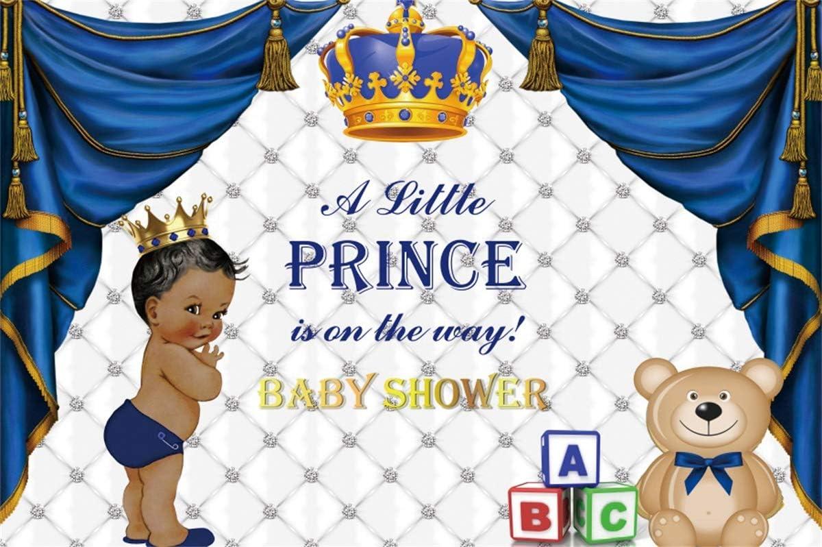 YEELE 10x8ft Royal Prince Baby Shower Backdrop Its a Boy Party Celebration Photography Background Little Prince Baby Shower Dessert Decoration Photobooth Props Digital Wallpaper