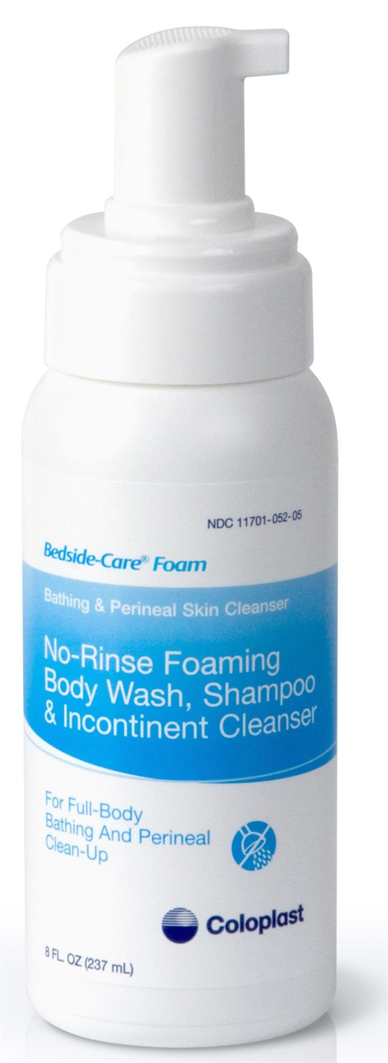 Coloplast Bedside Care No-Rinse Bathing and Perineal Foaming Skin Cleanser - 8 ounce