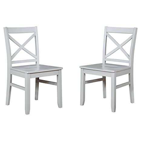 Surprising Amazon Com Threshold Carey Dining Chair Gray Set Of 2 Pabps2019 Chair Design Images Pabps2019Com